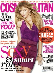 Taylor Swift on the cover of Cosmopolitan