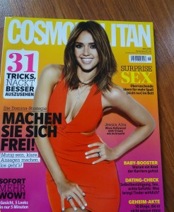 Cosmopolitan Germany July 2016 with Jessica Alba