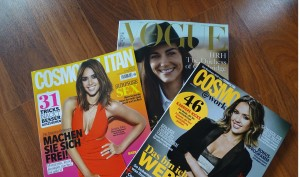 Vogue and Cosmopolitan magazines