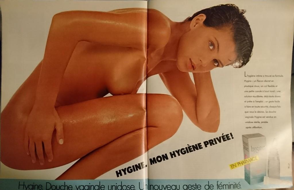 Publicité femme nue dans Femme Actuelle