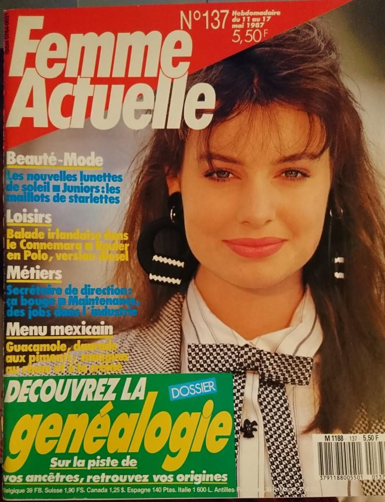 Femme Actuelle 137 du 11 Mai 1987