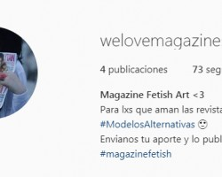 OMG a instagram profile with magazine fetish content!