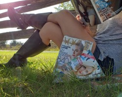 Sunsets and Fashion mags