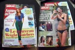 My today's shopping: glossies women and people magazines